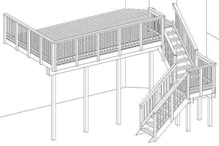 Deck Elevation Drawing Elevation Drawings